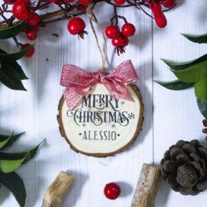 decorazione albero merry christmas