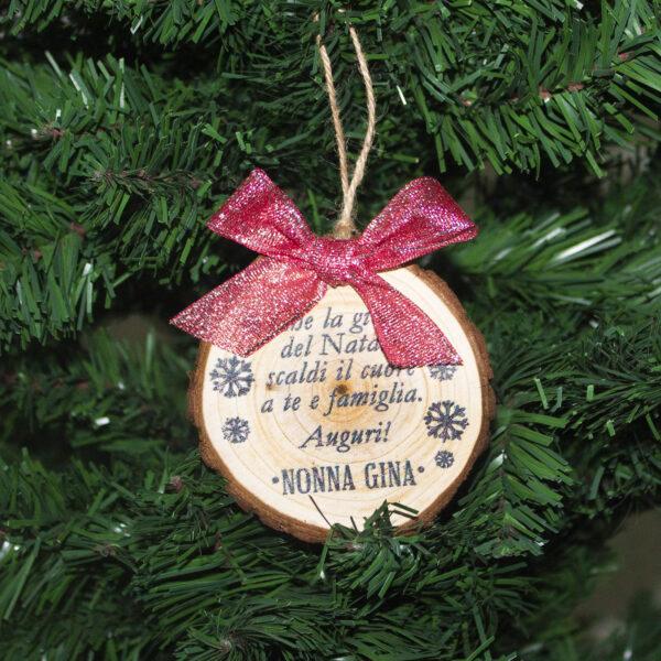 decorazione albero frase personalizzata