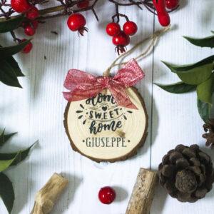 decorazione albero natale home sweet home
