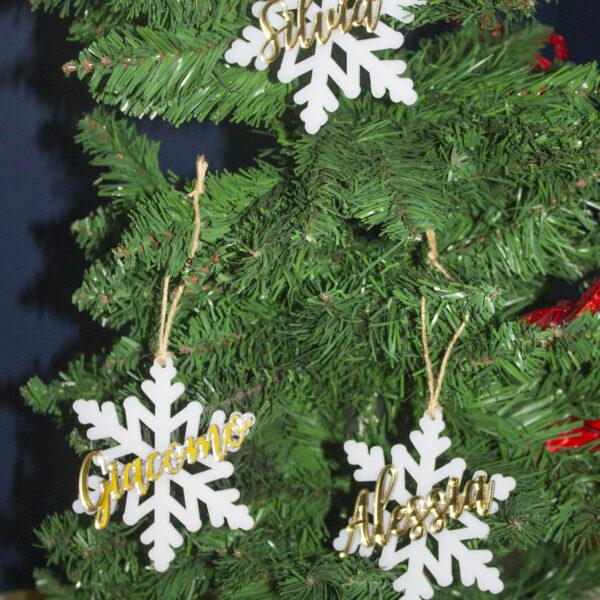 decorazione fiocco di neve, nome personalizzato