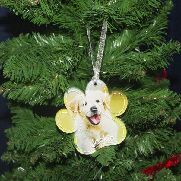 decorazione per albero di natale zampa