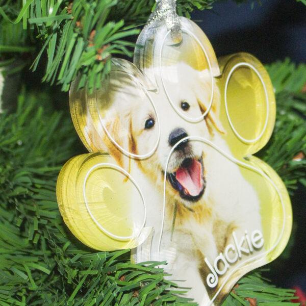 decorazione per albero di natale con foto personalizzabile