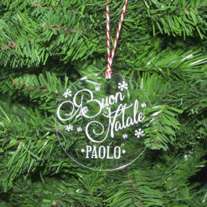 """decorazione albero """"buon natale"""""""