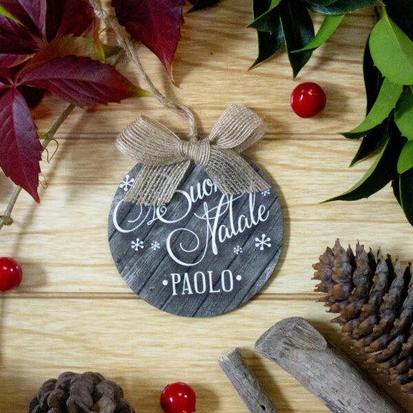 decorazione albero, buon natale, nome personalizzato