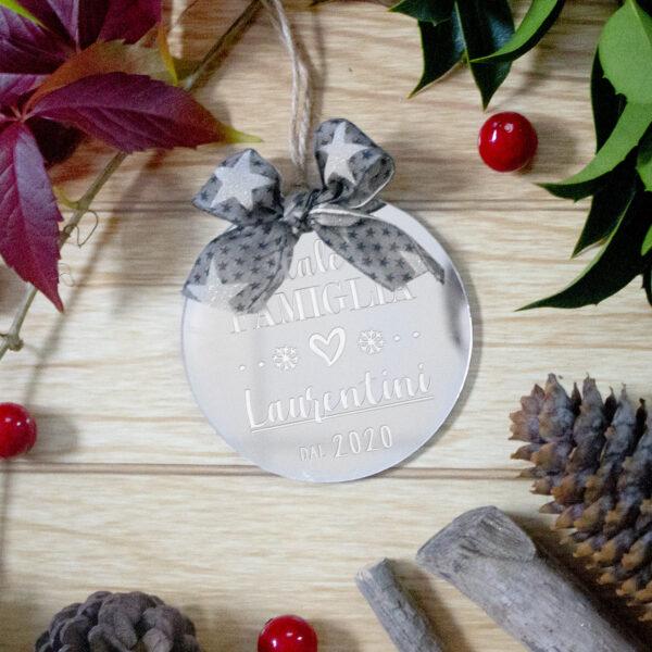 decorazione albero di natale, con nome personalizzato