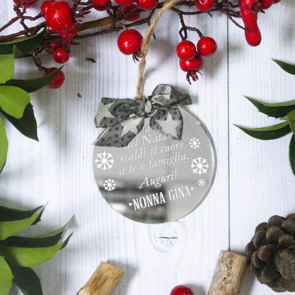 decorazione albero, dedica personalizzata