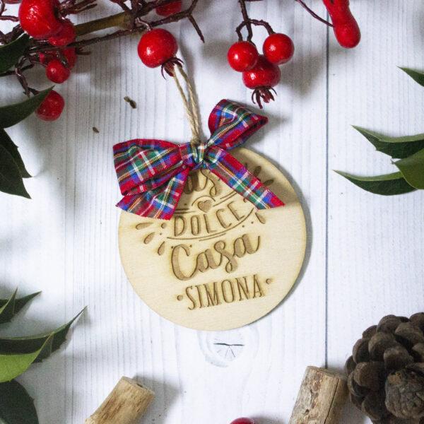 decorazione albero di natale, casa dolce casa, legno