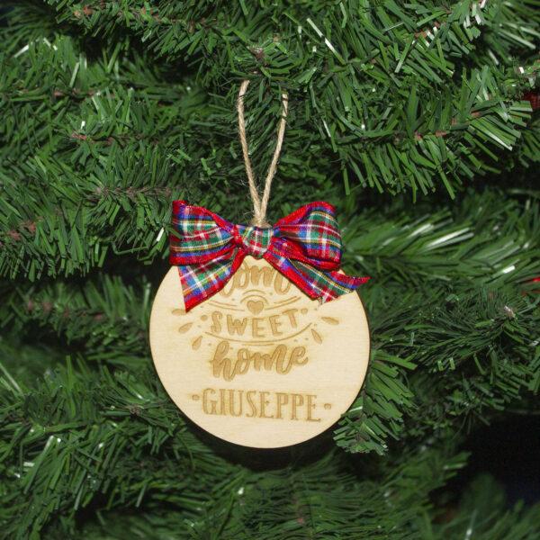 decorazione albero di natale home sweet home