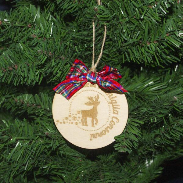 decorazione albero di natale renna