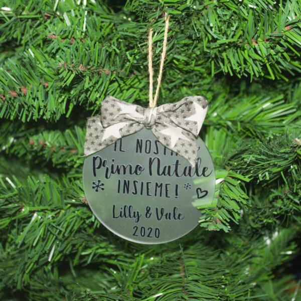 decorazione albero di natale, primo natale insieme con nome