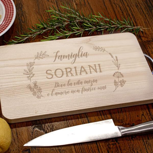 tagliere personalizzato, legno, famiglia