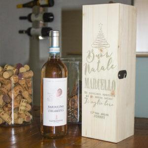 cassetta porta vino idea auguri di natale
