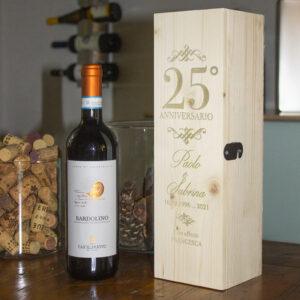 porta vino 25 esimo anno di anniversario