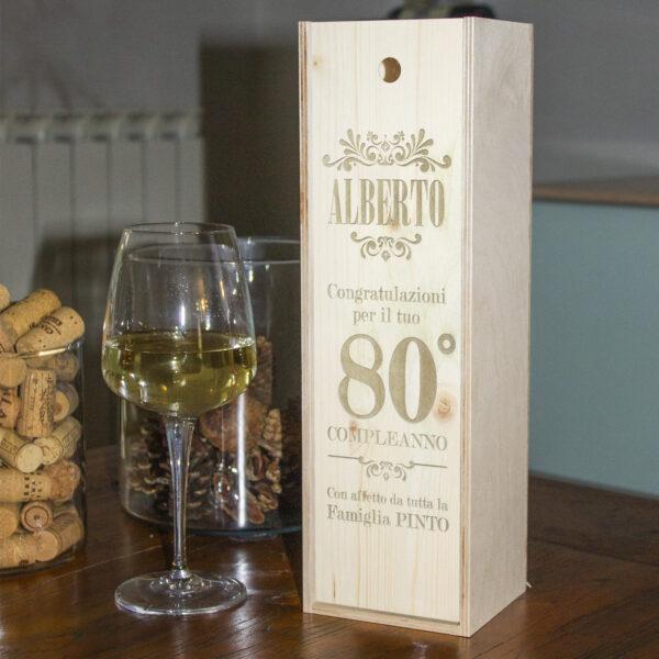 cassetta porta vino personalizzabile per il compleanno
