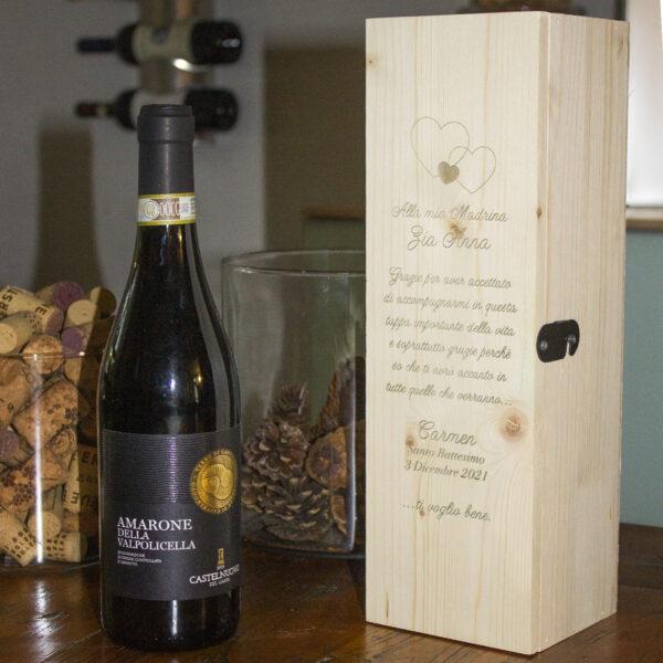 cassettina vino personalizzabile madrina o padrino