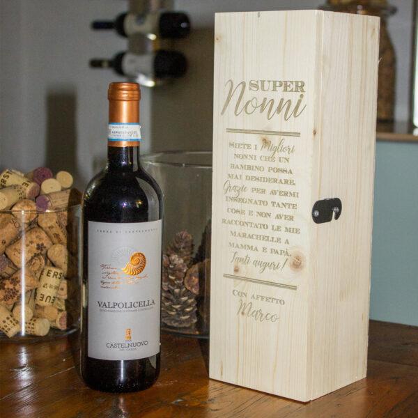 regalo nonni, cassetta porta vinopersonalizzata