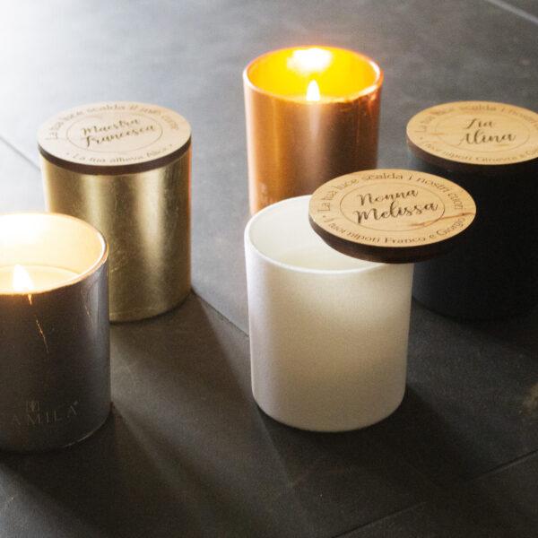 candele profumate personalizzate, idea regalo per la nonna