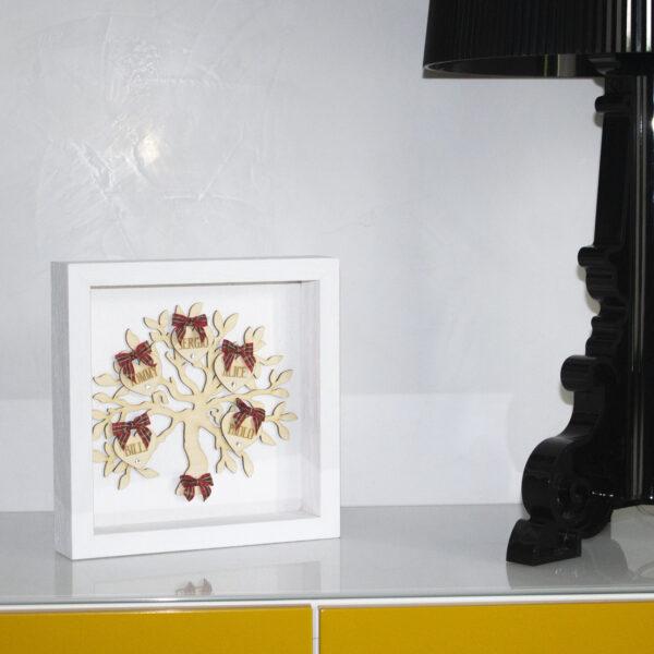 quadro decor homre tree life, con cuori personalizzabili