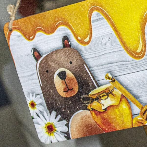 targhetta orso personalizzabile