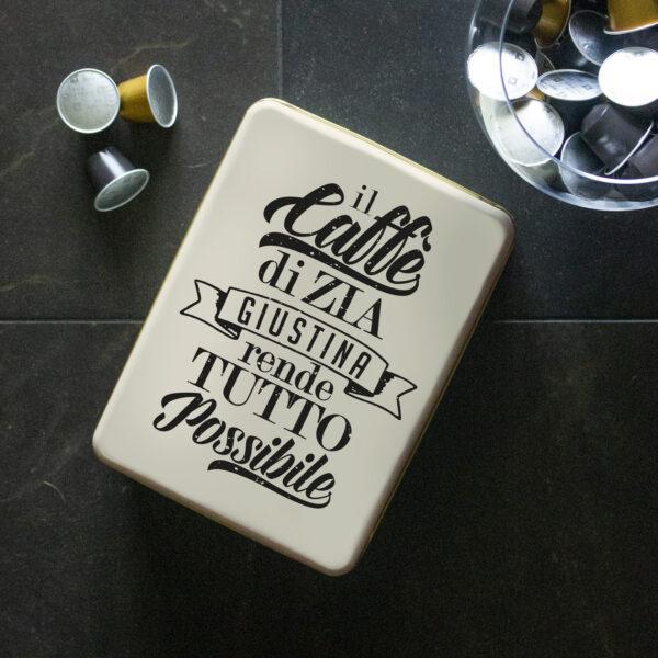 Scatola di latta, caffè