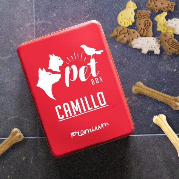 scatola di latta cane e gatto