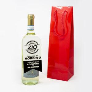 bottiglia vino personalizzabile grafica modern