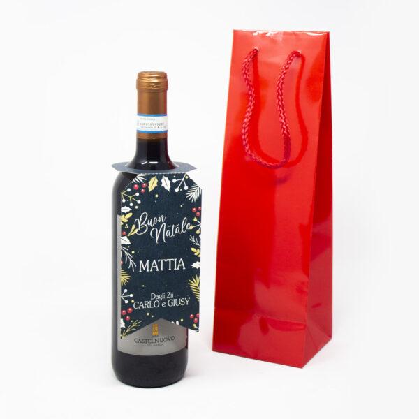 bottiglia di vino xmas blue