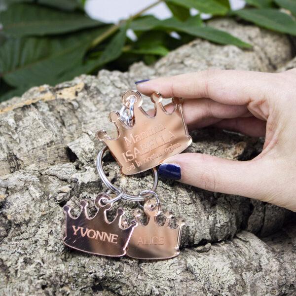 portachiavi in legno crown
