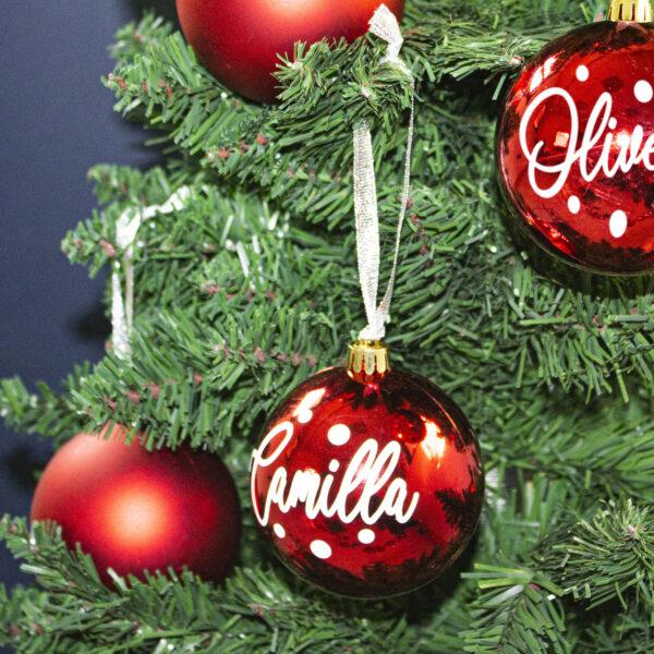 decorazione albero di Natale - Balls Xmas - Rosso Metal