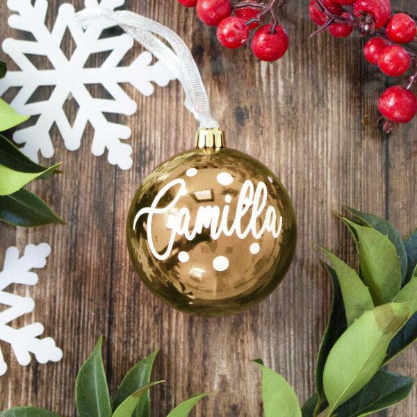 decorazione albero di natale gold