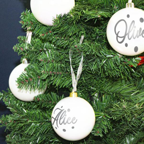 decorazione albero di natale, white perlato
