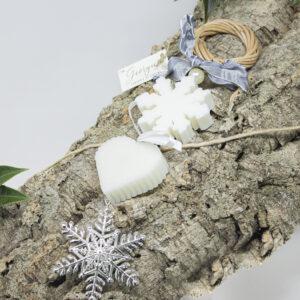 "ghirlanda decorativa soap ""fiocco di neve"""