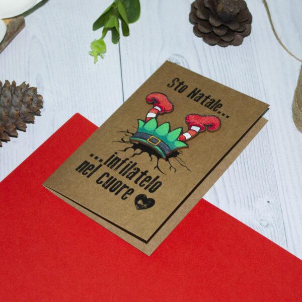 biglietto di auguri elfo