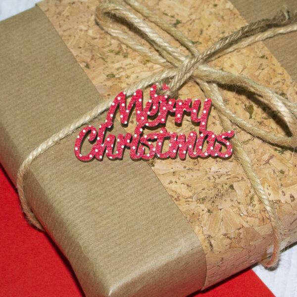 tag in legno per chiudi pacco, merry christmas