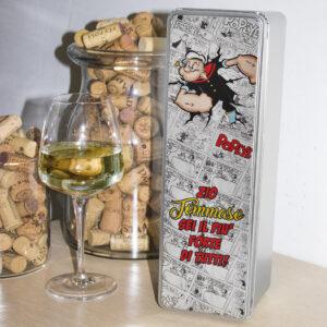 scatola in latta porta vino popeye personalizzabile