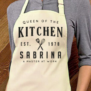 "grembiule personalizzato ""queen of the kitchen"", beige"