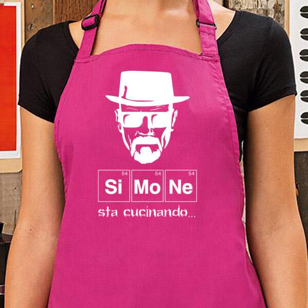 """Grembiule Personalizzato """"sta cucinando"""", fucsia"""