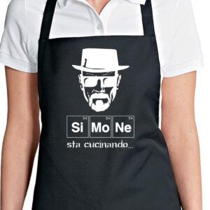 """Grembiule Personalizzato """"sta cucinando"""", nero"""