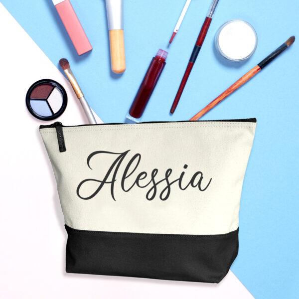 Beauty case personalizzato con il tuo nome, nero