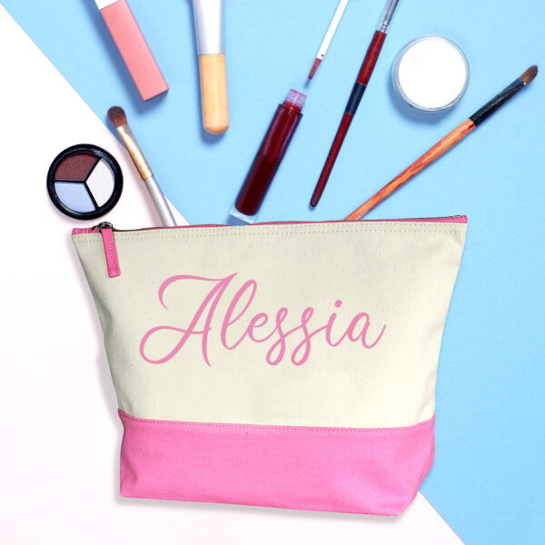 Beauty case personalizzato con il tuo nome, rosa