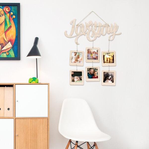 porta foto in legno deco murale love story