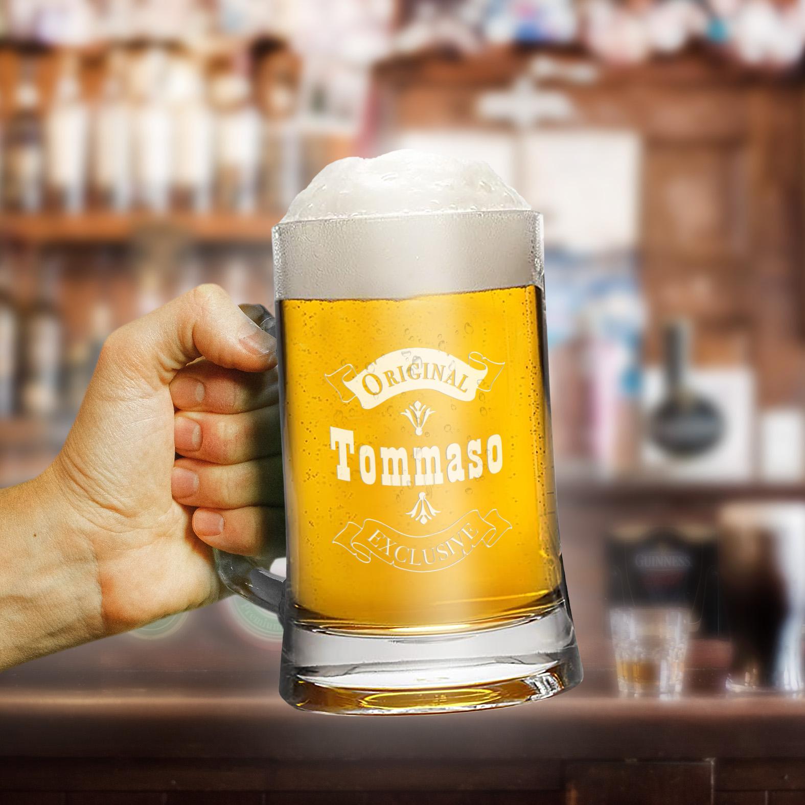 Boccale Di Birra Con Nome Personalizzato B Paper
