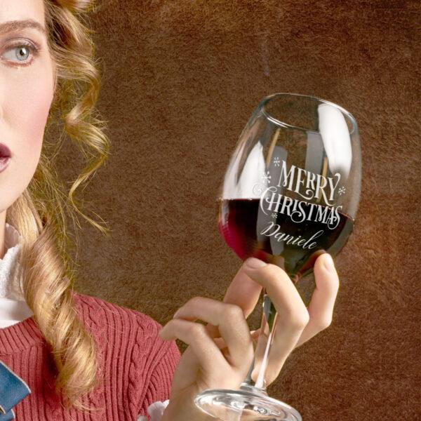 bicchiere personalizzato, regalo di natale