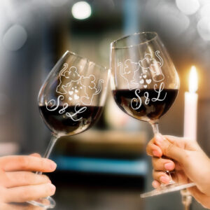 bicchiere personalizzato, regalo san valentino
