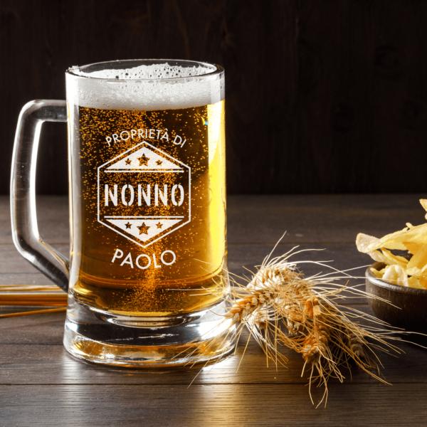 regalo per il nonno, bicchiere birra personalizzato