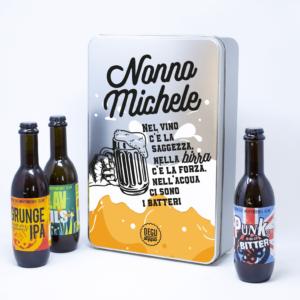 regalo per il nonno, box birre personalizzato