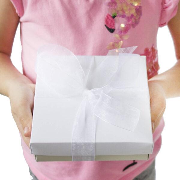 scatola con dedica personalizzata bijoux regalo