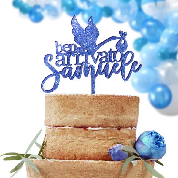 cake topper nascita, sopra torta nascita bambini