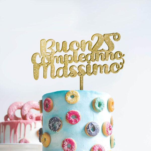 cake topper happy birthday, sopra torta compleanno