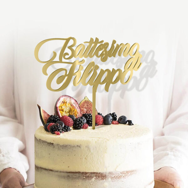 cake topper battesimo, idea regalo battesimo sopra torta